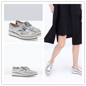 Ref-1341-001-Brand-2015-ZA-Womens-Fashion-Sneakers-Silver-Flat-platform-font-b-bluchers-b